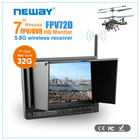 HD DVR Available for 5.8 GHz wireless reciever 7 inch LCD HDMI Monitor for rc Plane
