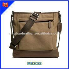 Vertical shape new style school canvas messenger bag