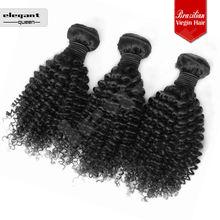 unprocessed virgin brazilian remy hair virgin hair weft kinky curly hair