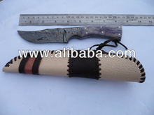 URSA'S CUSTOM HAND MADE DAMASCUS STEEL HUNTER KNIFE