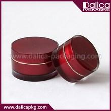 New arrival bottom price dark red acrylic jar for cream