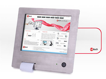 """10"""" stainless steel Touchscreen PC with integrated printer"""