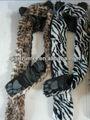 La fourrure des animaux forêt. esprit capot. paw print design personnalisé avec impression