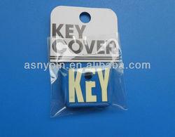 custom rubber key head cover, key ring, key cap