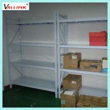Light duty metal warehouse shelving system