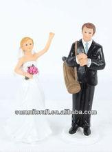 Wedding star Dream Golf Team Bride and Groom Couple Figurine for Cakes, Ethnic