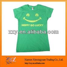 China Supplier Women Smiling Brand Tshirts Wholesale
