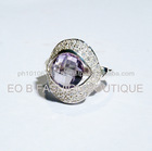GWR 38 Sterling Silver 925 Rectagle Shape Coloured Gemstone Ring