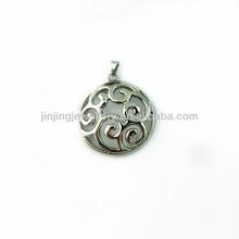 custom fashion wholesale round stainless steel pendant stainless steel ankh pendants