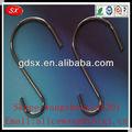 Personalizado cromo/níquel/cinc de la galjanoplastia pequeño s ganchos, s gancho de metal, s en forma de gancho de la suspensión en dongguan