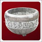 Chinese Round Garden Antique Stone Urn & Jar