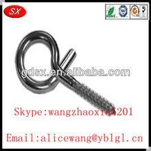 Customized chrome/nickel/zinc plating screw hook, wood screw hook,stainless steel screw hook in Dongguan