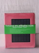 5V Solar Tablet Charger Case for iPad Solar Power Charger PU Case