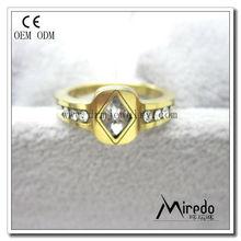 White diamond gold female rings