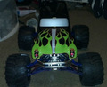 Personalizado traxxas revo 3.3 grave digger picco. 26 punto rojo tmaxx emaxx salvaje