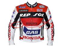 Honda Repsol yarış bisikletçinin deri motosiklet ceket