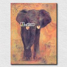 Decorative African elephant painting