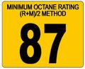 L'essence 87 octane