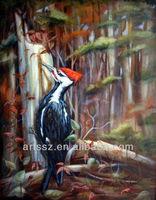 handmade decorative woodpecker