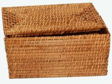 bamboo rattan double tissue holder