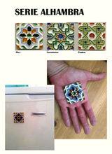 Ceramic tiles. Arabic style. Fridge deco