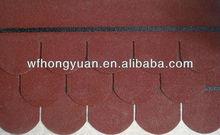 Decorative roofing material-Colorful Fiberglass Asphalt roof tile manufacturer