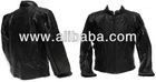 Pure Black Motorcycle Leather Jacket