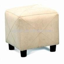 Microfiber fabric covered storage ottoman