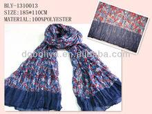 flower print scarf polyester