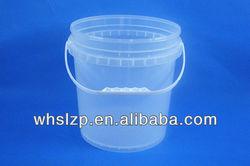 10L small transtrant plastic barrels with lids and handles