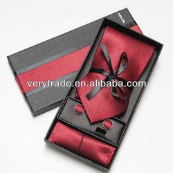 100% silk ties plain red