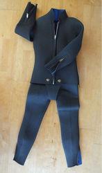 black 6mm snorkeling diving wetsuit size medium