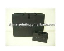 2013 latest design black shopping paper bags for women