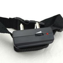 Nylon X818 Black Adjustable Electronic Shock Dog No Bark Collar For Medium Dog