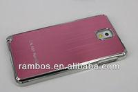 Phone Brushed Metal Case Electroplating Brushed Hard Case for Samsung Galaxy Note 3 N9000