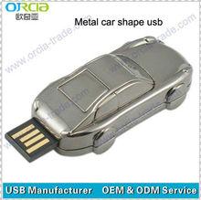 buy silver car shape pen drive usb metal 2gb 4gb 8gb 16gb 32gb