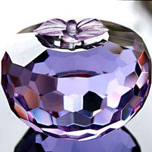 fected purple crystal art apple for christmas gift