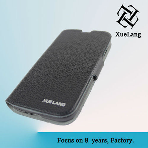 Real Leather case for SamSung galaxy S4 with stand flip genuine case for samsung s4