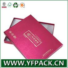 rose red metallic paper t-shirt packaging box with bag