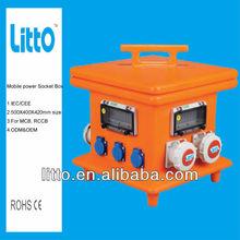 IEC/CEE Industrial Electrical plug Mobile power socket box