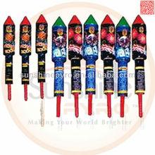 1.4G rockets fireworks/fuegos artificiales