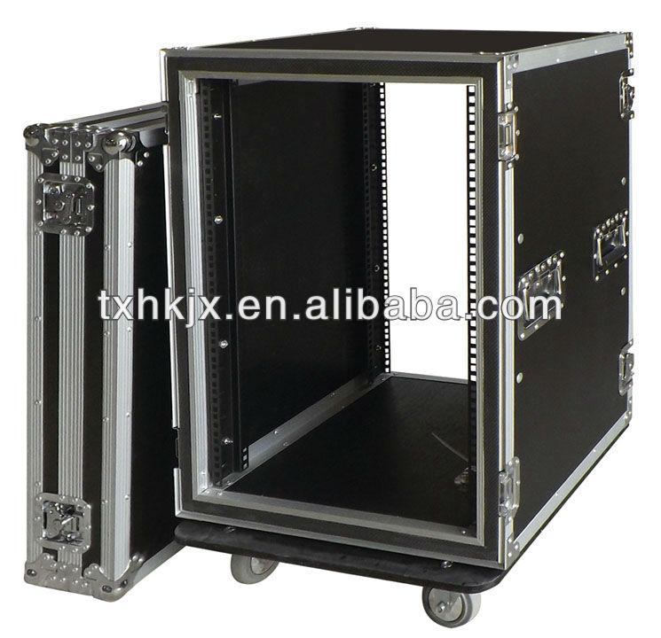 16U Shock Mount Aluminum Plywood Amplifier Rack Flight Road Case