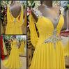 2014 Ultimate Luxury Crystal Dress V-neck Korean Dress Bride Wedding Toast Dress Pleat Chiffon Open Back Evening Dress