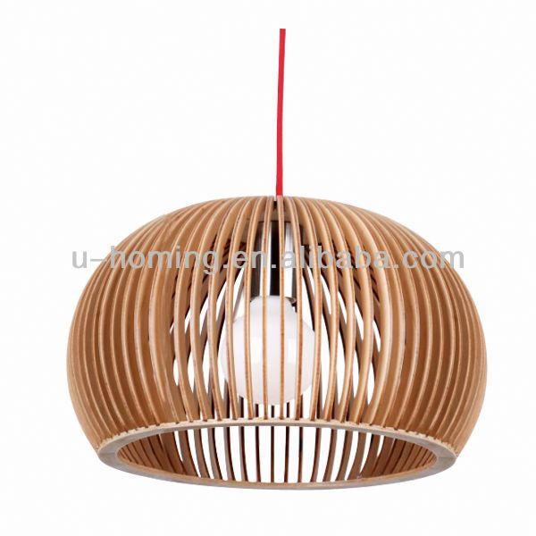 Timber Pendant Lamp Commercial Led Pendant Lighting For