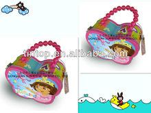 Tintop gift tin box/nice handle attachedstyle packaging tin / chocolate tin case