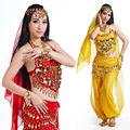Cinco- pieza de danza del vientre trajes/de danza arabe conjunto