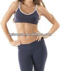 Custom nylon spandex women bra and pants for yoga