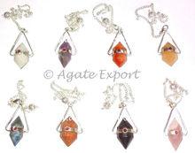 Mix Gemstone Vogel With Garnet Pendulums.