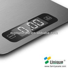 Mesa digital nutrição escala de alimentos