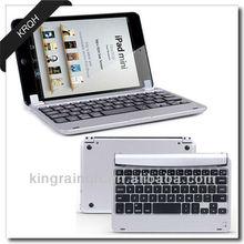 Aluminum Alloy Bluetooth Keyboard Case Cover for iPad Mini